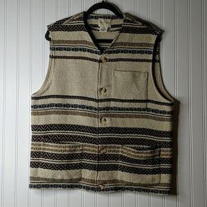 Micheal Hoban Wool Blend Western Aztec Vest
